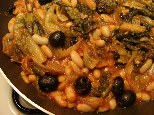 braised escarole white beans olives