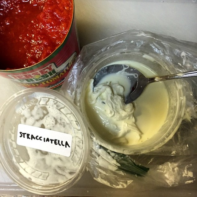 stracciatella and jersey tomatoes