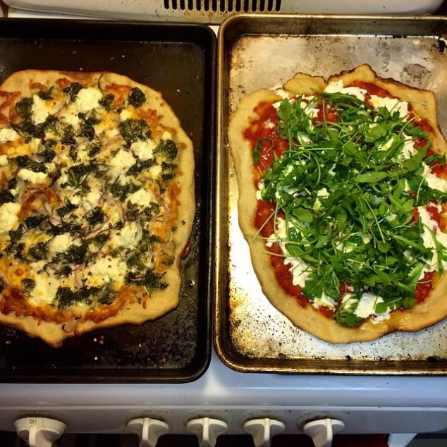 veg pizzas